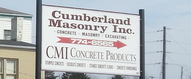 Cumberland Masonry sign